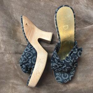 Dolce & Gabbana Shoes - Dolce & Gabbana wood/ denim platform